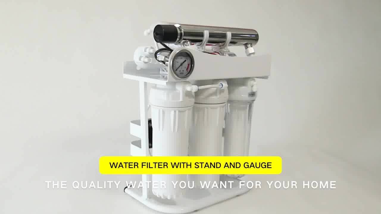 Custom Pure Undersink RO 6 Stage Water Filter Reverse Osmosis Water Purification System