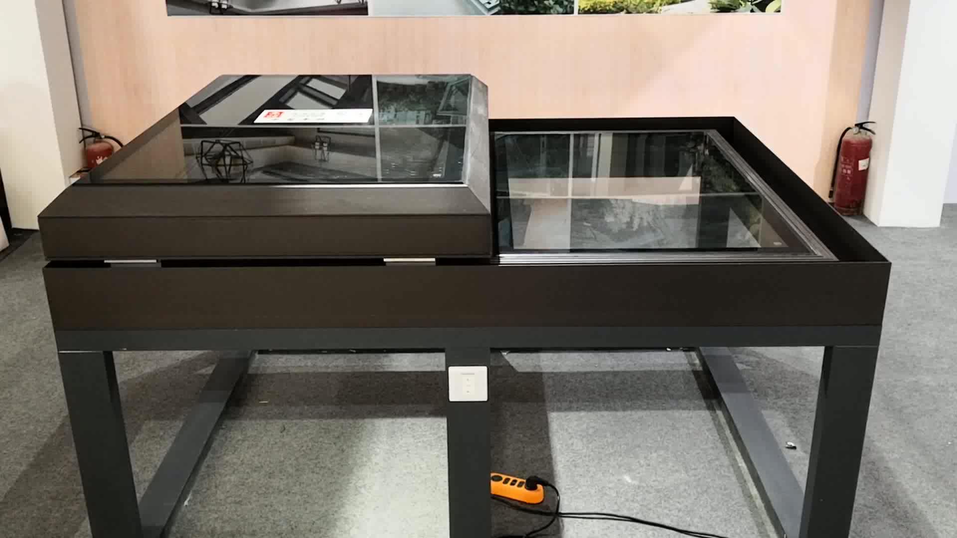 A prova di suono standard doppi vetri vetro temperato di alluminio di piccola dimensione tetto apribile elettrico finestre scorrevoli