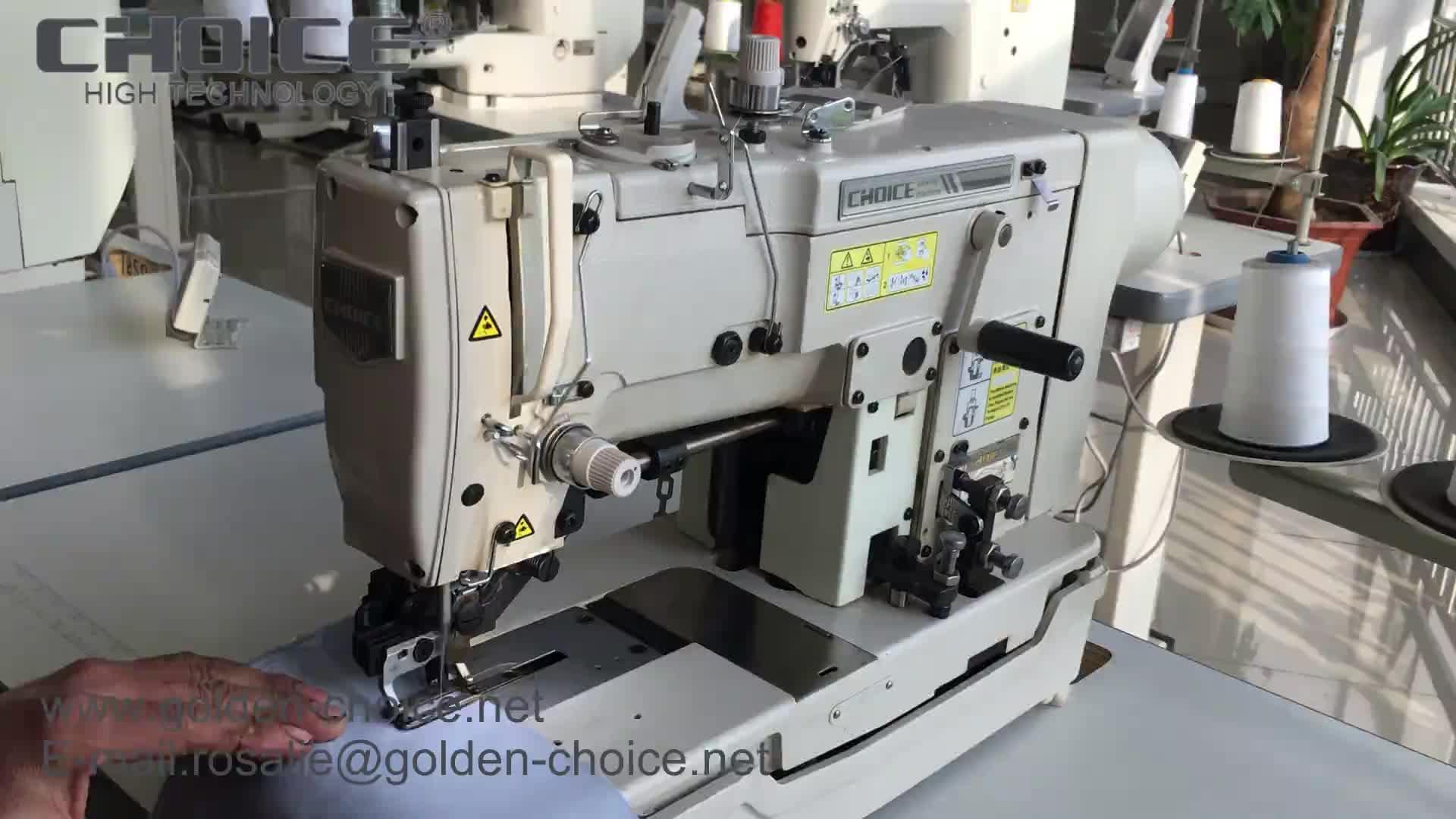 ORO SCELTA GC782 piatto ad Alta velocità letto con più lungo del piede di pressione occhiello pulsante holer industriale macchina da cucire