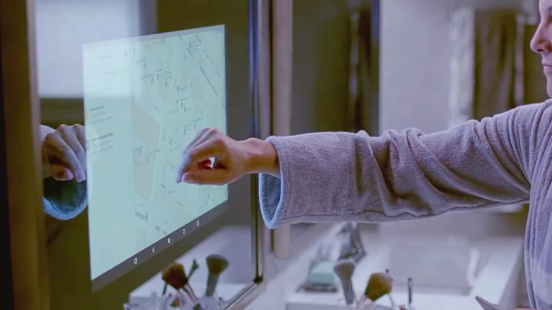 مرآة ذكية 4k hd كابينة تصوير مرآة سحريّة lcd