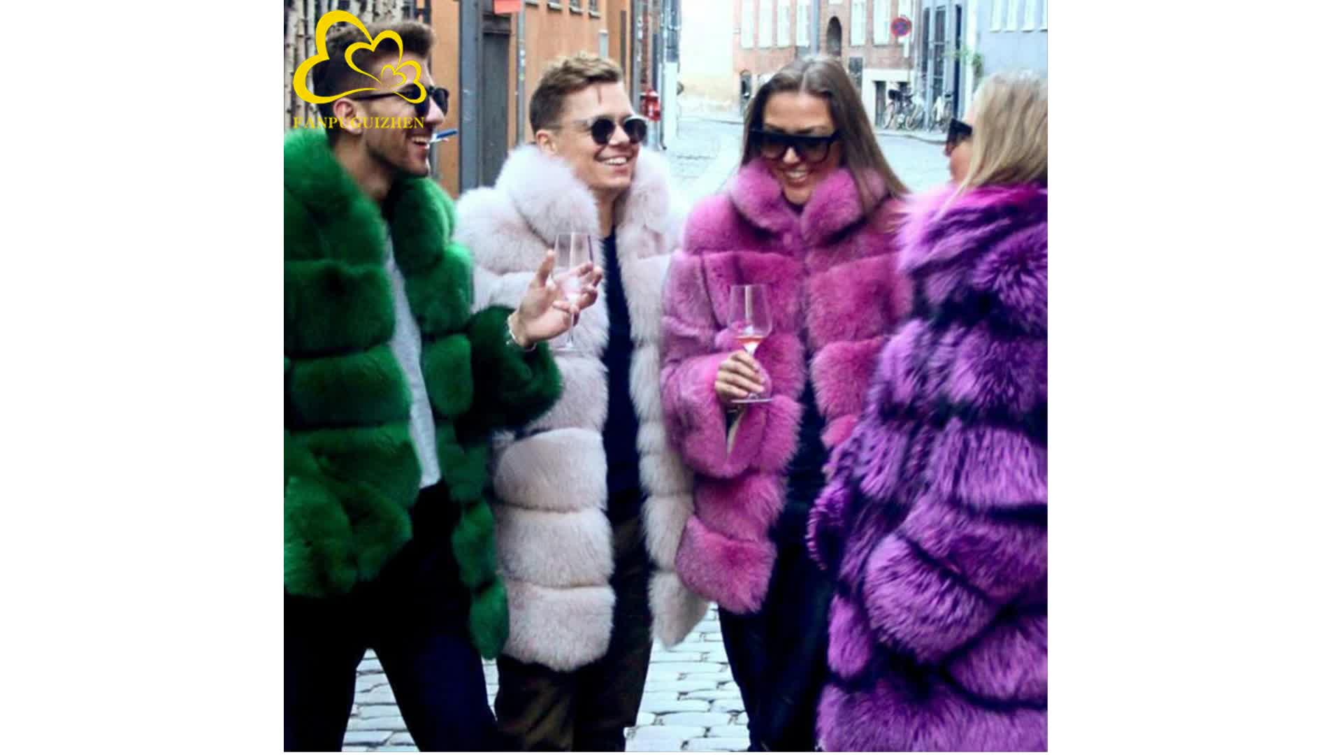 Faux fur Europe and the United States explosion models autumn and winter new fox fur coat women's clothing