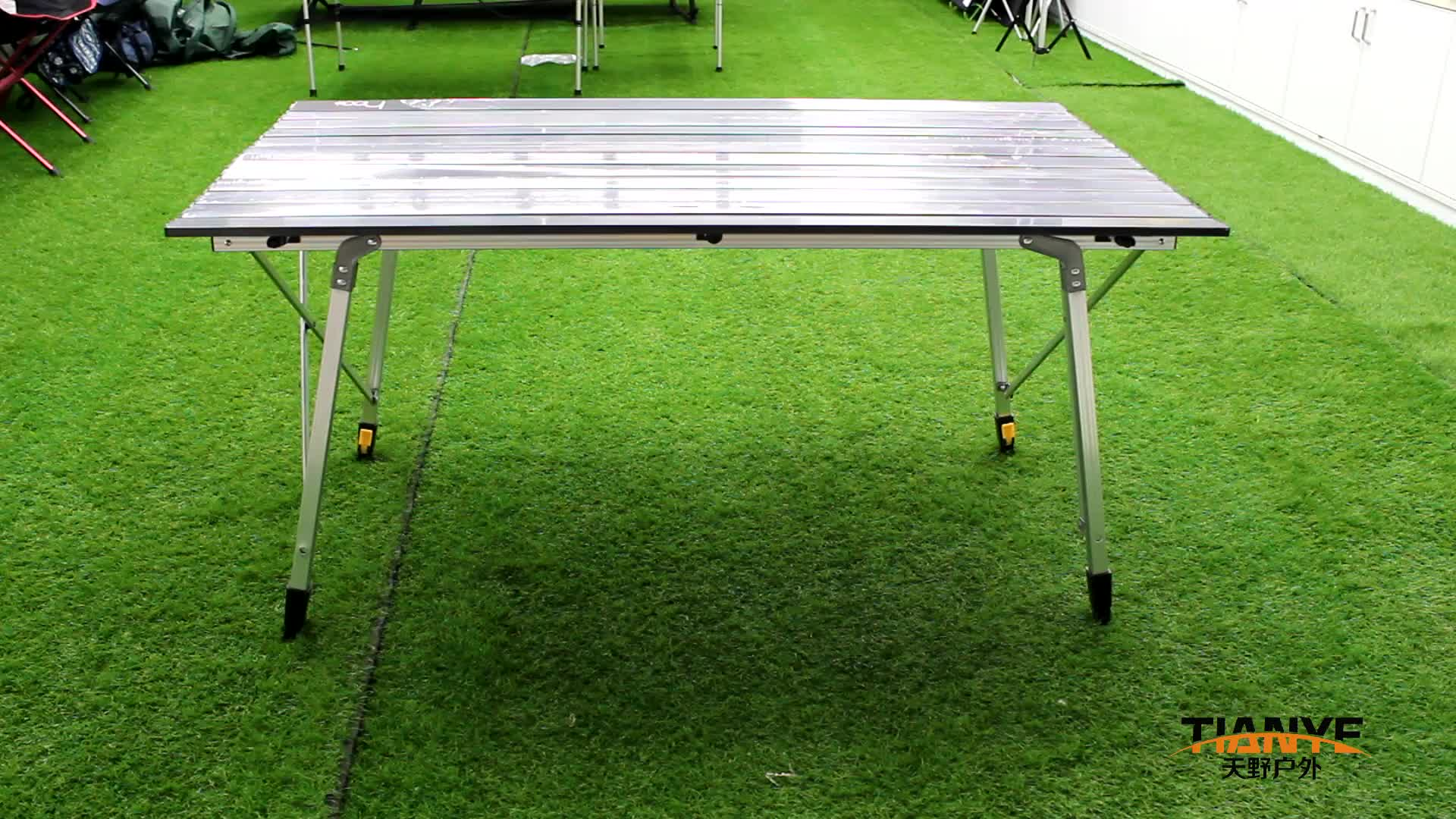طاولة من سبائك الألومنيوم للتخييم قابلة للطي خارجية قابلة للتعديل ارتفاع Tianye