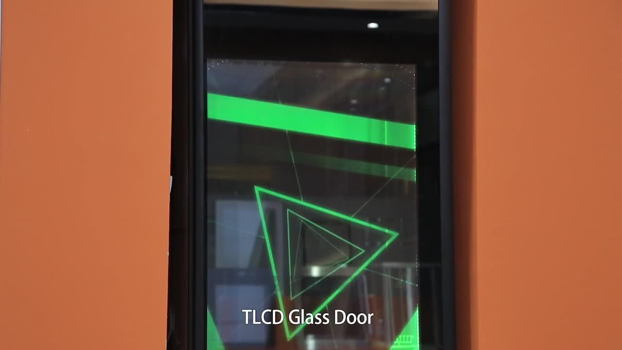 Telaio in Lega di alluminio TLCD Porta a Vetri Frigorifero Parti Pubblicità Porta di Vetro