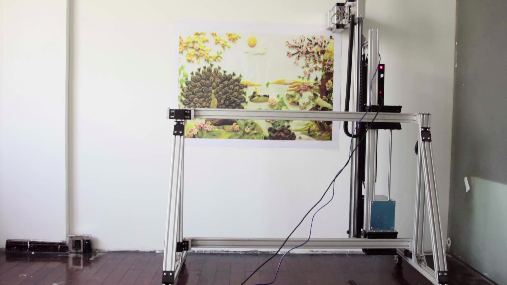 2880Dpi Vertical Wall Printer Beautiful Scenery Inkjet Wall Painting Machine For Any Photos Printing On Various Wall