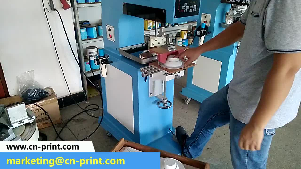 Lc-tp1-100 masa tek renk golf topu tampon baskı makinesi