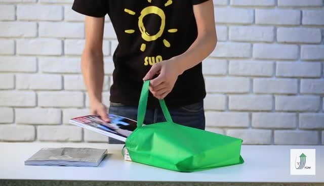 Foldable recycle customized  laminated  non-woven tote bag