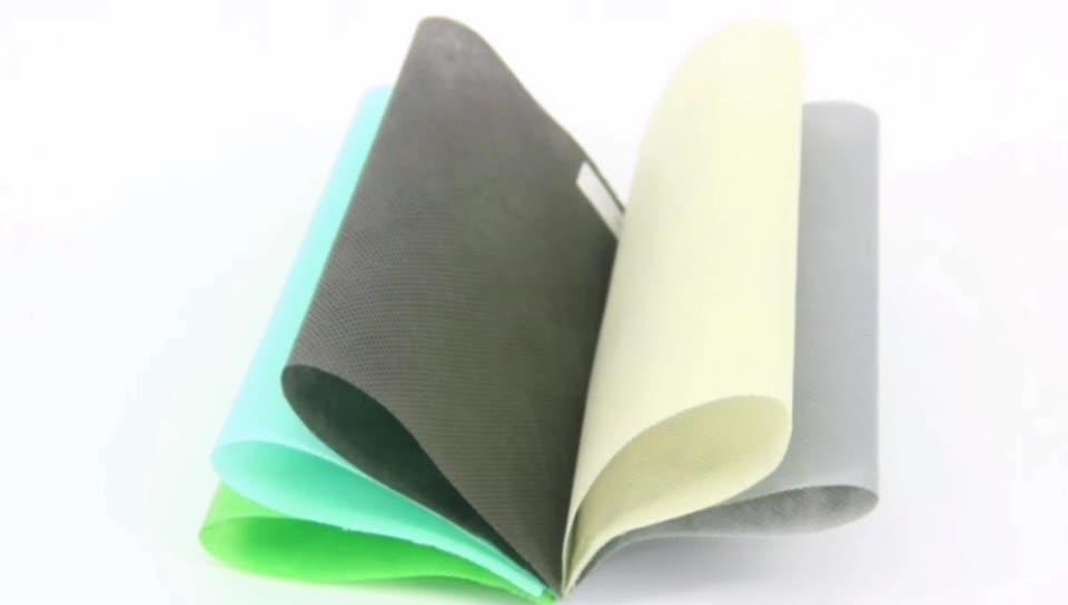 Binnenlandse professionele non woven stoffen fabriek materiaal 100% pp spingebonden geweven stof hydrofobe biologisch afbreekbare stof