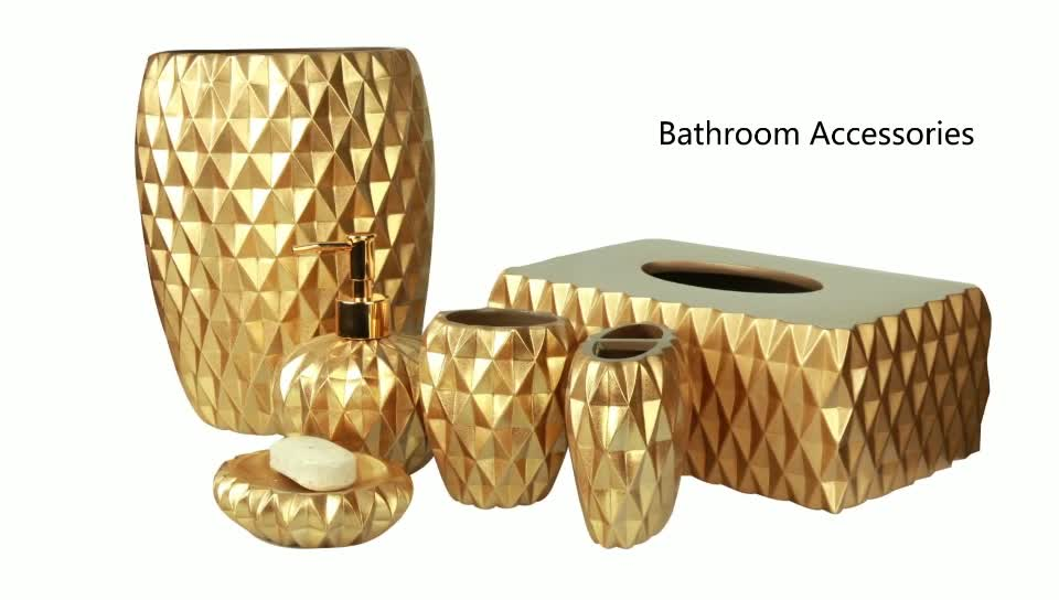 China Manufacturer Supplier Gold Plated Bathroom Accessories Sets Buy China Supplier Bathroom