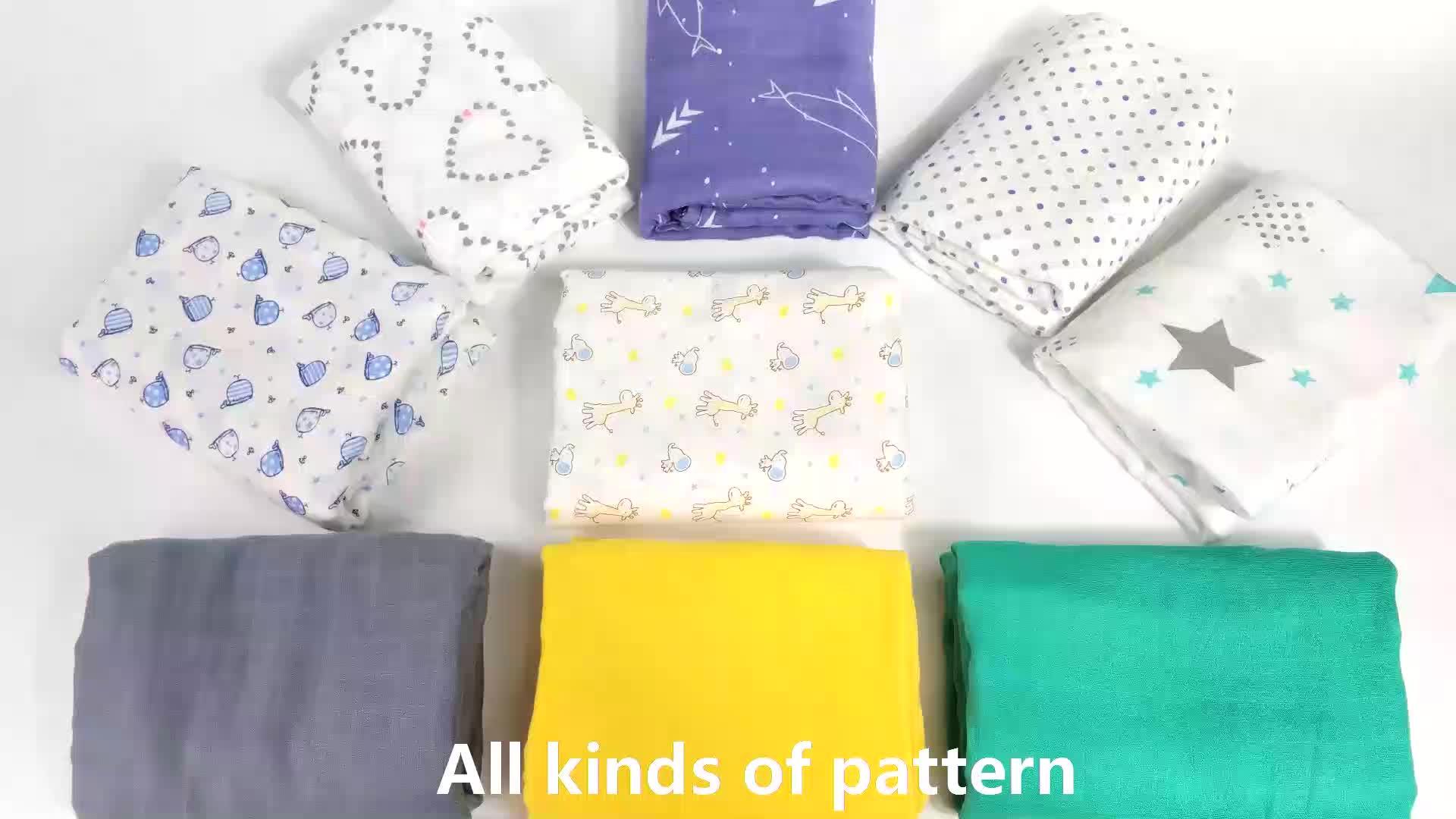 100% bambou coton bio 3 pack bébé mousseline couverture