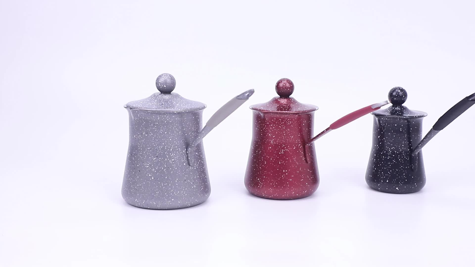 L10258581 Restoran Kopi Perkakas Bahasa Swedia Stainless Steel Moka Kopi Hangat Pot dengan Cerat