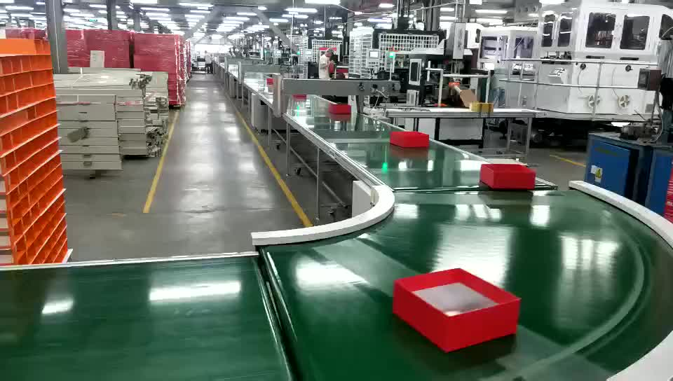 30 to 180 degrees turning machine durable green rubber belt conveyors assembly line