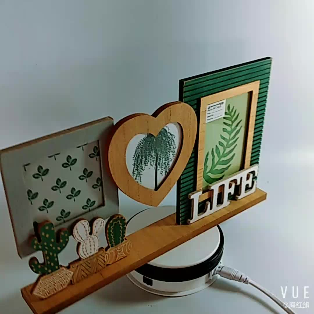 High Quality Laser Engraved Wooden Picture Photo Frame Customized Size and Color