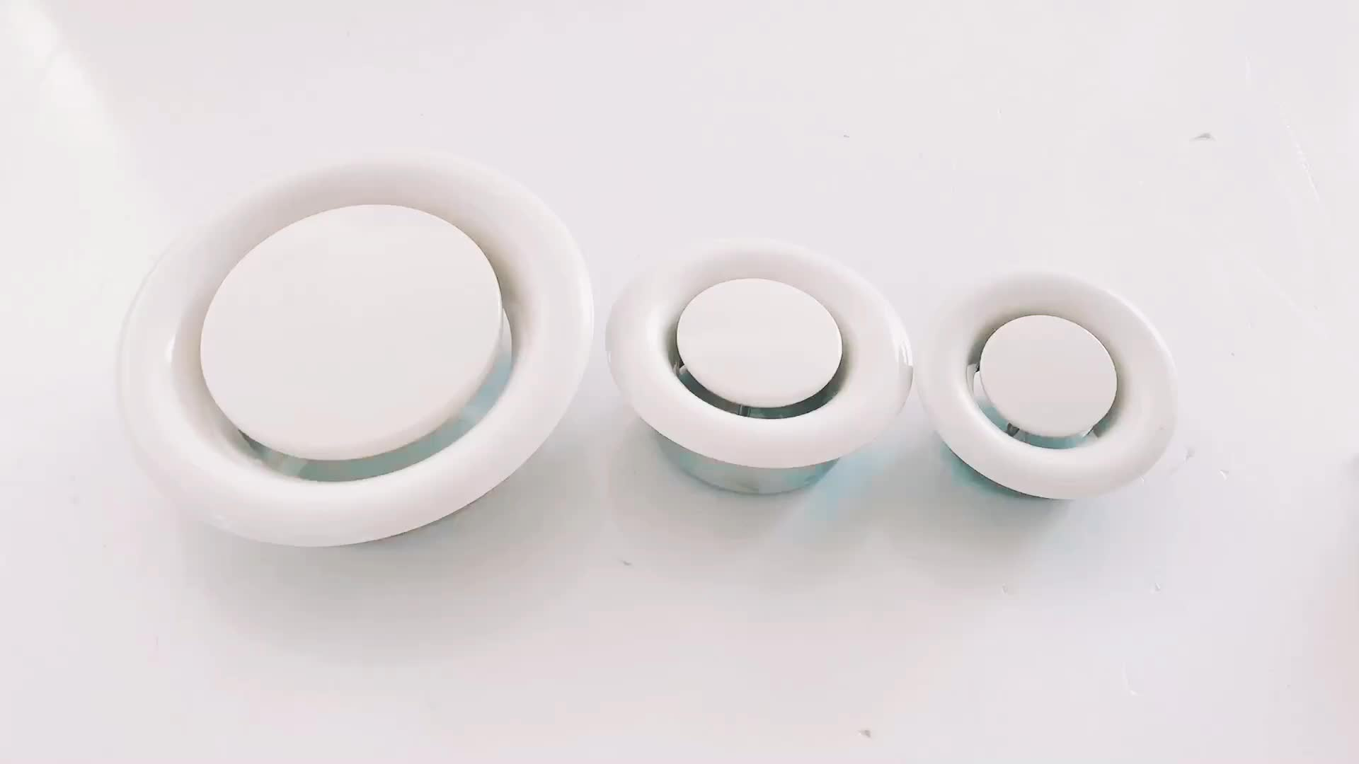 Ceiling Round Duct Manual Adjustable Exhaust Air Vents