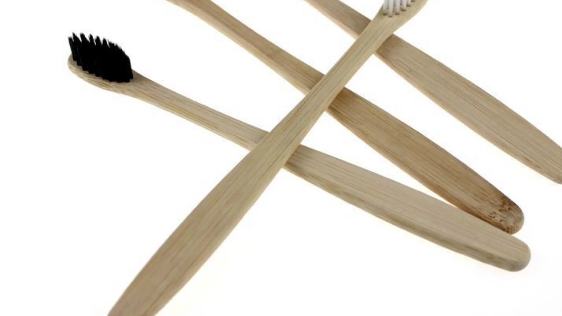 High Quality cheap Natural Bamboo Toothbrush BPA free Charcoal Infused Bristles disabled wooden Toothbrush