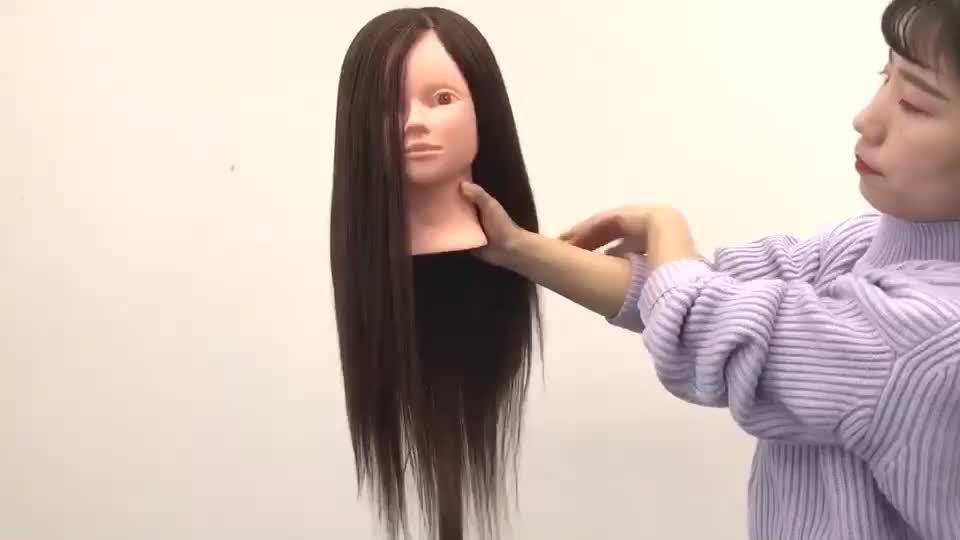Hair Styling Mannequin Head: African American Mannequin Head Hairdressing Training