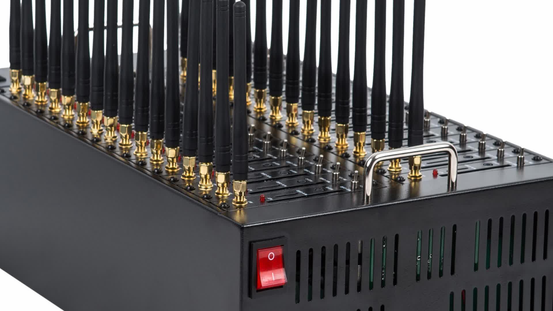 2020 ขายร้อนต่ำราคาอุปกรณ์ GSM 32 พอร์ต MODEM Pool SMS ซิมการ์ด 2G BULK Multi MODEM AT Commend IMEI เปลี่ยน