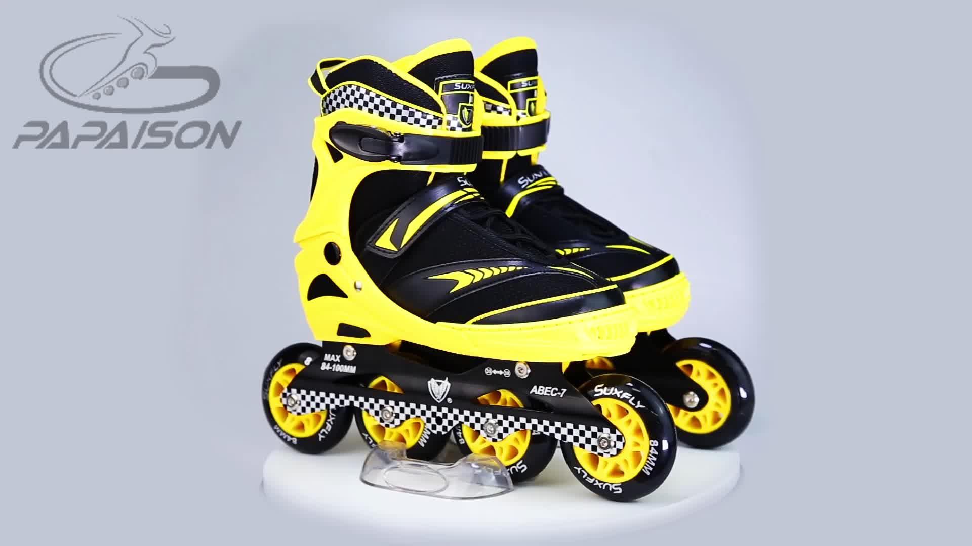 Commercio all'ingrosso della fabbrica di Acciaio Al Carbonio ABEC-7 Inline pattini a rotelle di Alta Qualità patines en linea per i bambini e adulti