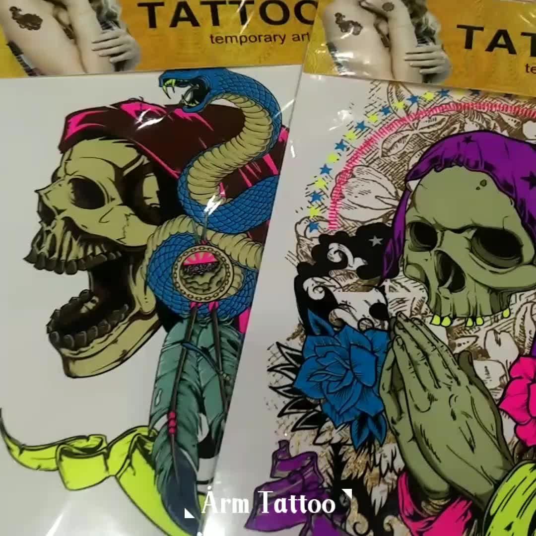 Sıcak satış özel tasarım dövme etiket kapalı, geçici çocuklar çıkartmalar dövmeler