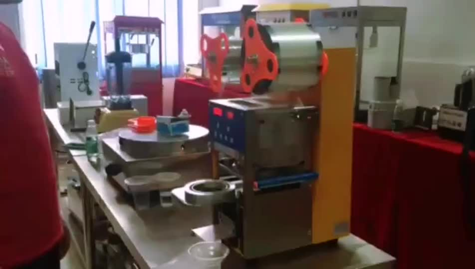 Semi Automatic Bubble Drink Juice Clear Cup Sealing Machine