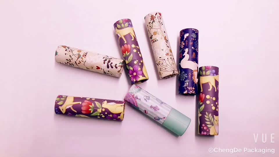 Lip stick / solid perfume paper twist up tubes / deodorant stick container twist up