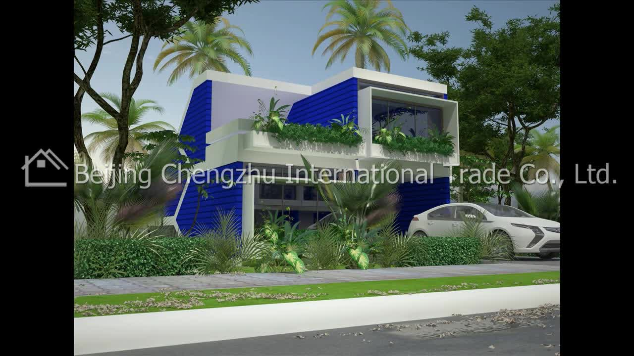 Modern prefab house for fast building 70m2 80m2 100m2 prefabricated layout homes kits for sale