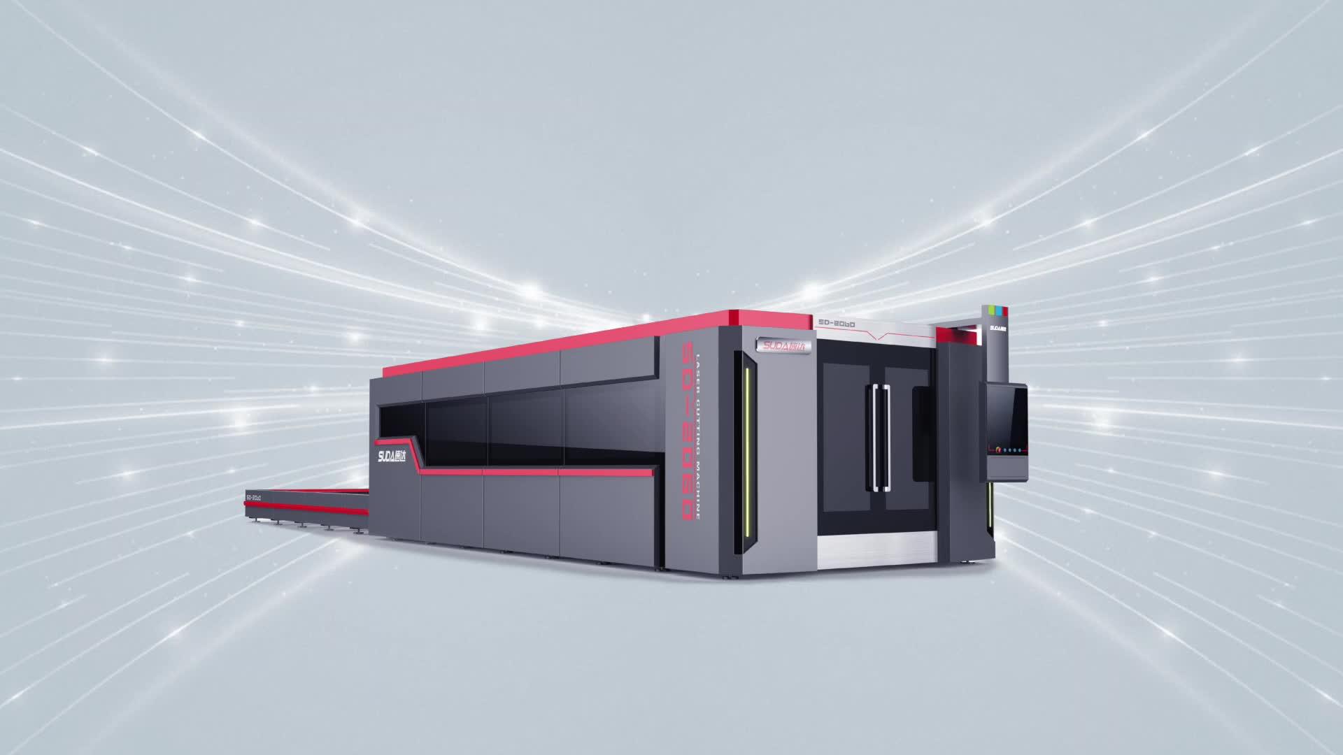 SUDA FG 3015 DH completa capa de proteção e troca de mesa 6000w máquina de corte a laser de fibra para o metal