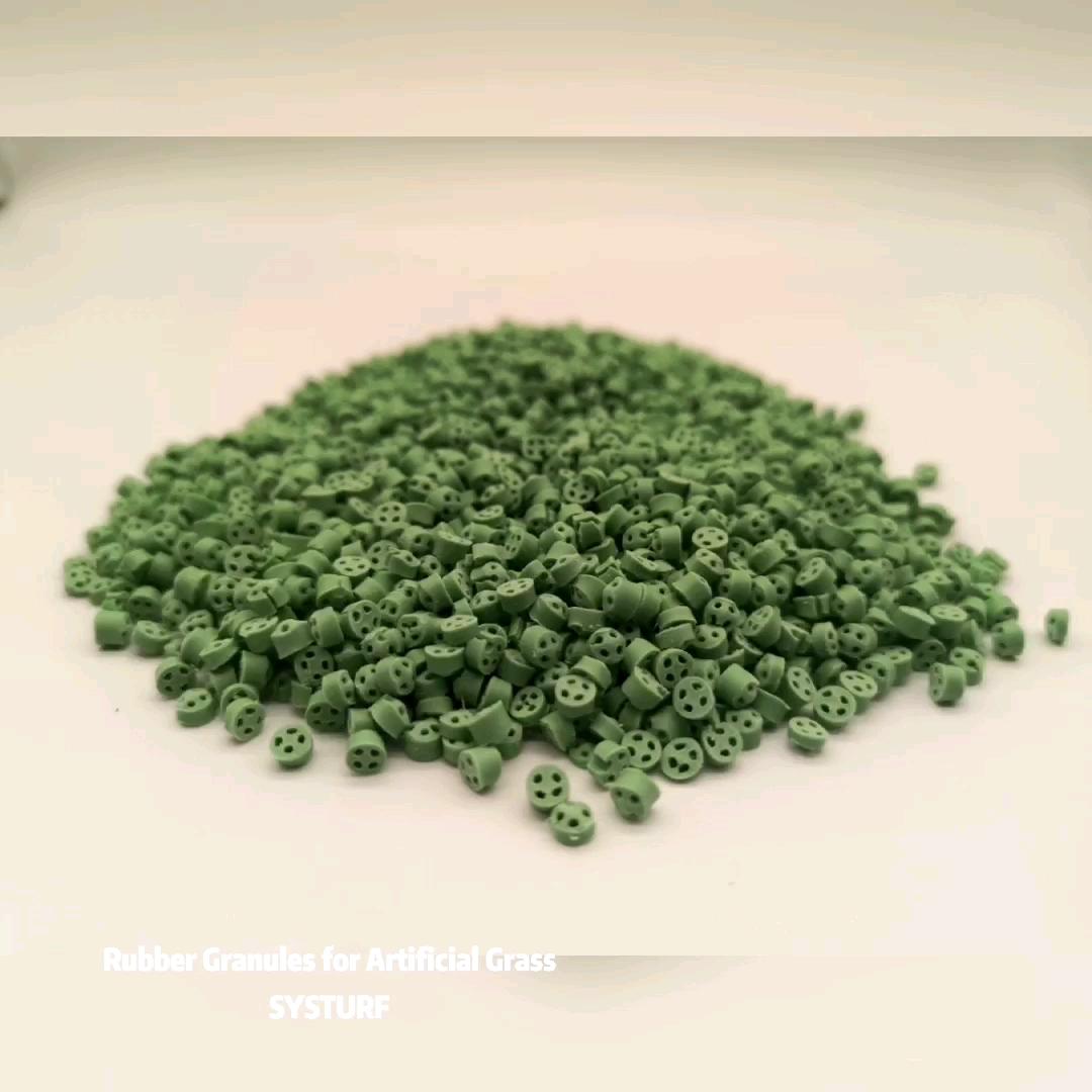 Butiran Karet EPDM Hijau untuk Infill Rumput Buatan