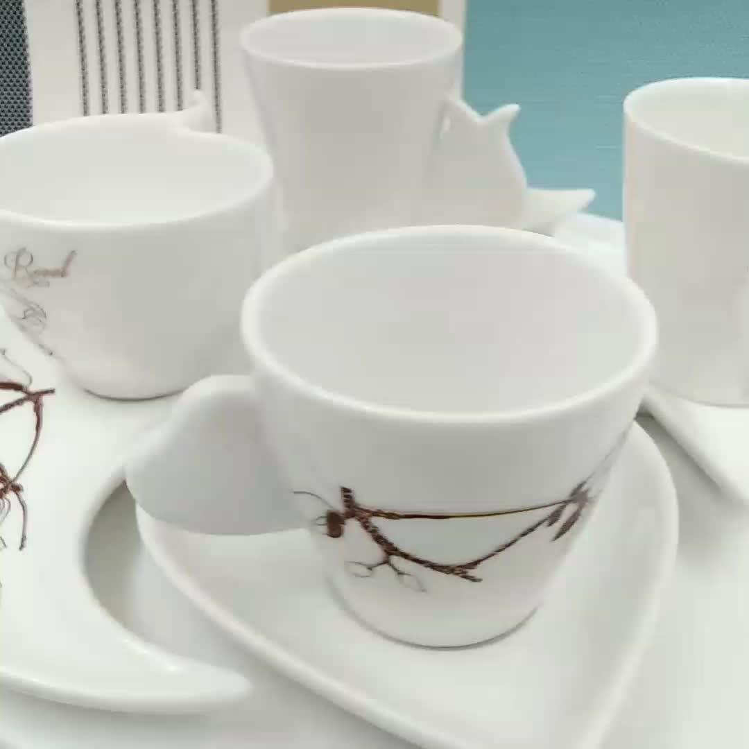 Hotel personalizzata in ceramica di caffè espresso tazza di caffè con piattino