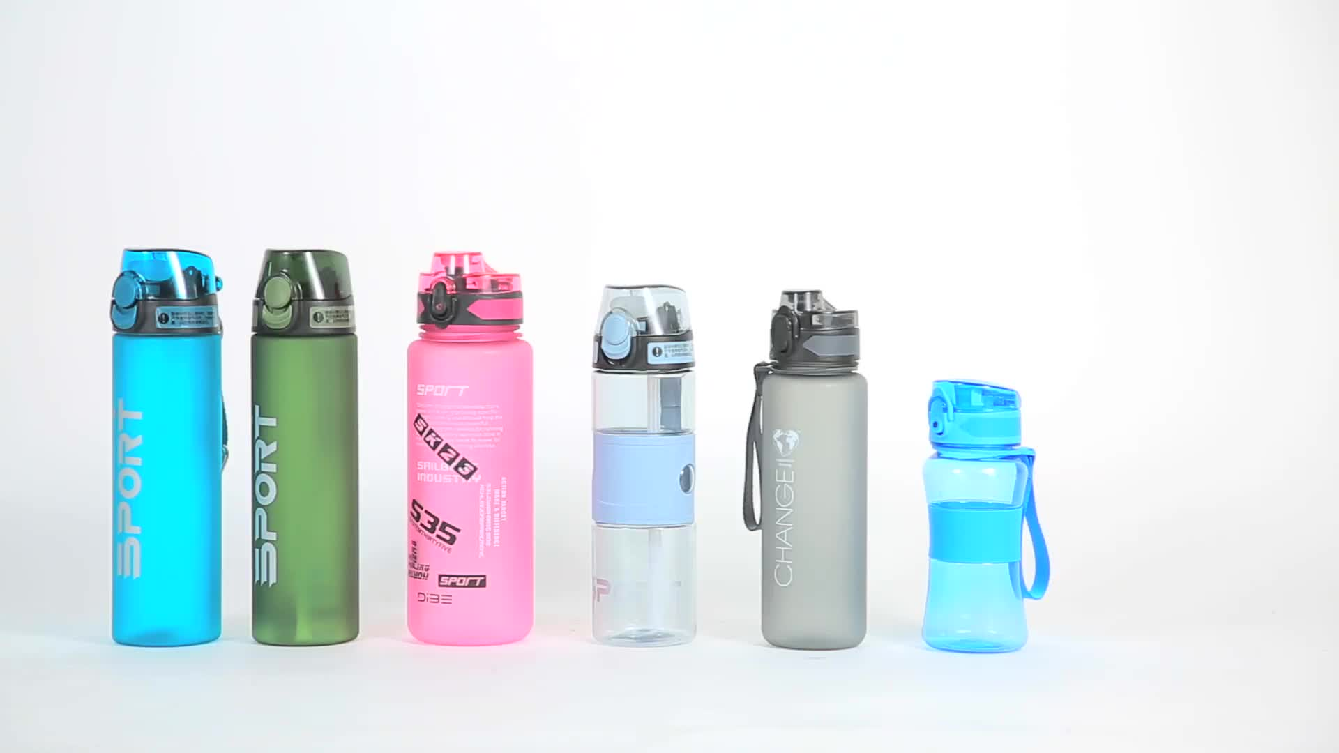 1000ml High Quality Leak Proof Bpa Free New Eco friendly Filp Top Water Filtration Sports Plastic Water Bottles
