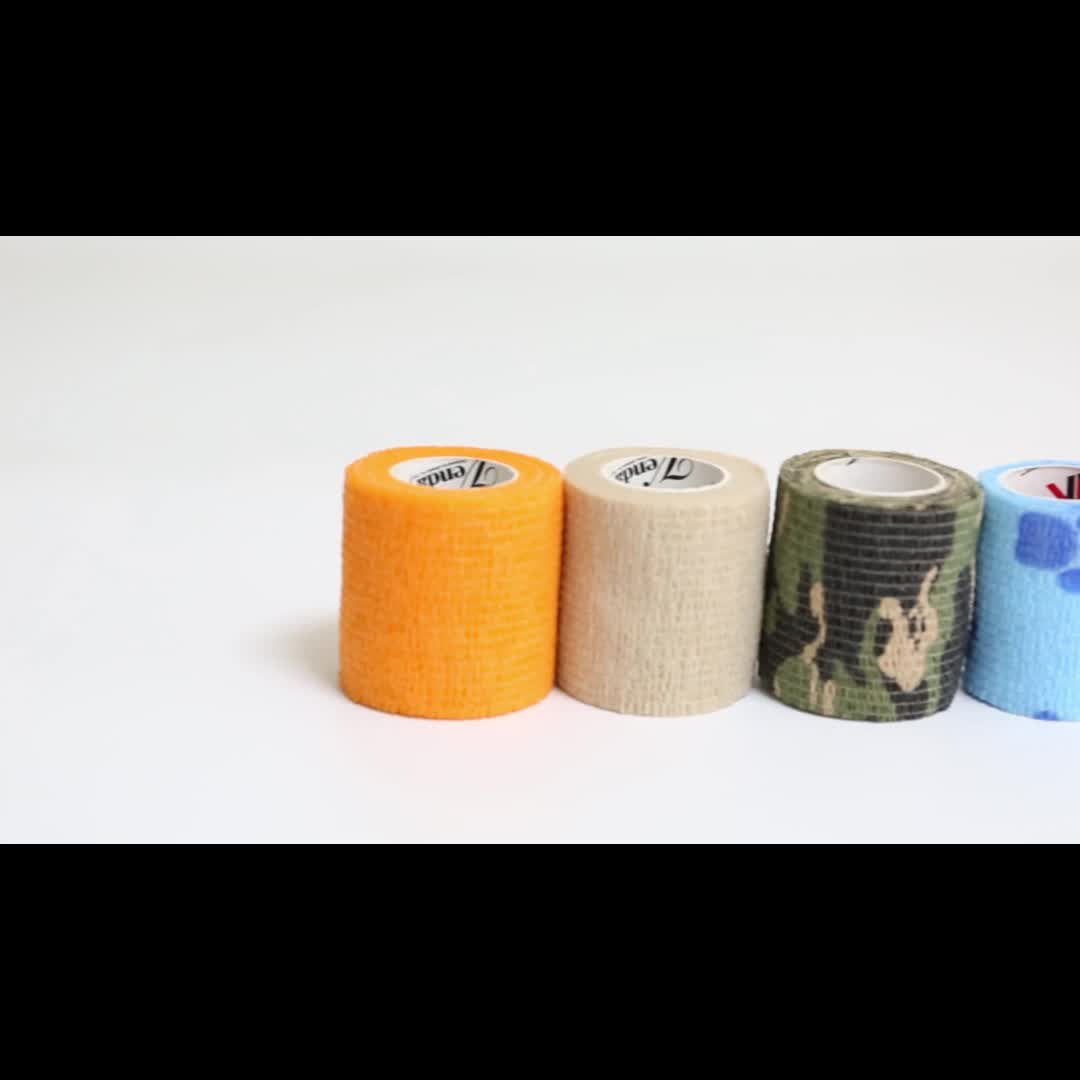 Medical Colored Non-woven Elastic Medical Cohesive Self-adhesive Bandage Factory/manufacture Cohesive Bandage