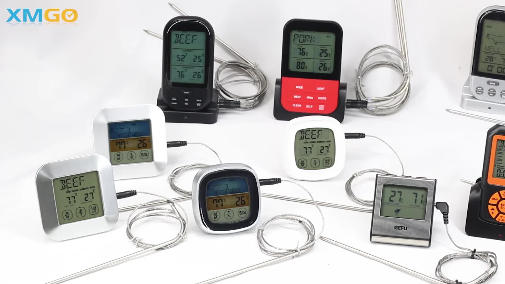 KH-TH002 LCD Đèn Nền Kỹ Thuật Số Thông Minh Ngay Lập Tức Đọc Nhà Bếp Thịt Nấu Nướng BBQ Thực Phẩm Nhiệt Kế Với Báo Động