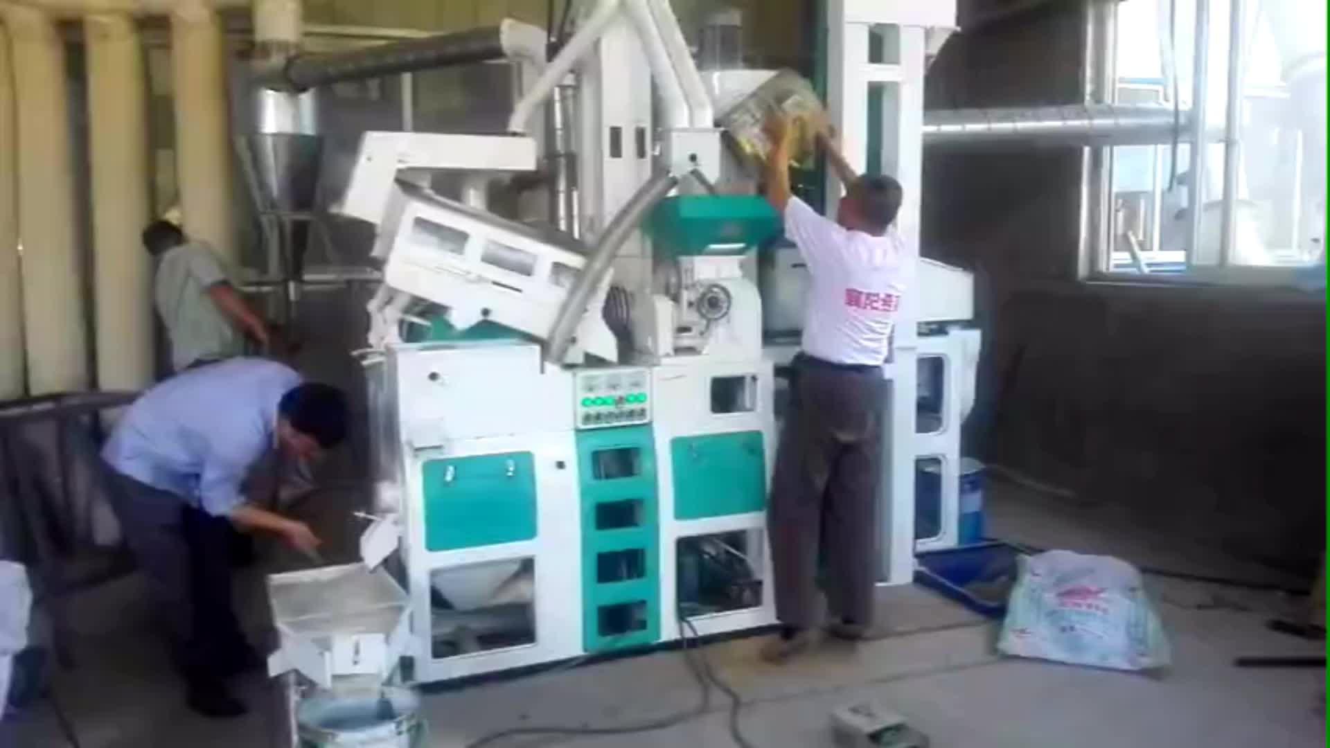 1200 kg प्रति घंटे स्वचालित मिनी चावल मिल की मशीन फिलीपींस