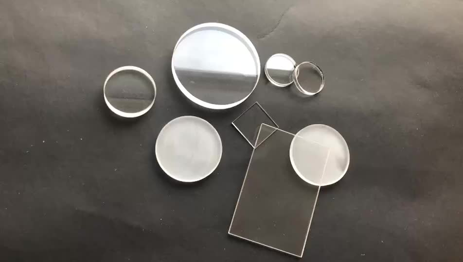 Hand made Circular quartz Glass plate ploshed opaque quartz plate