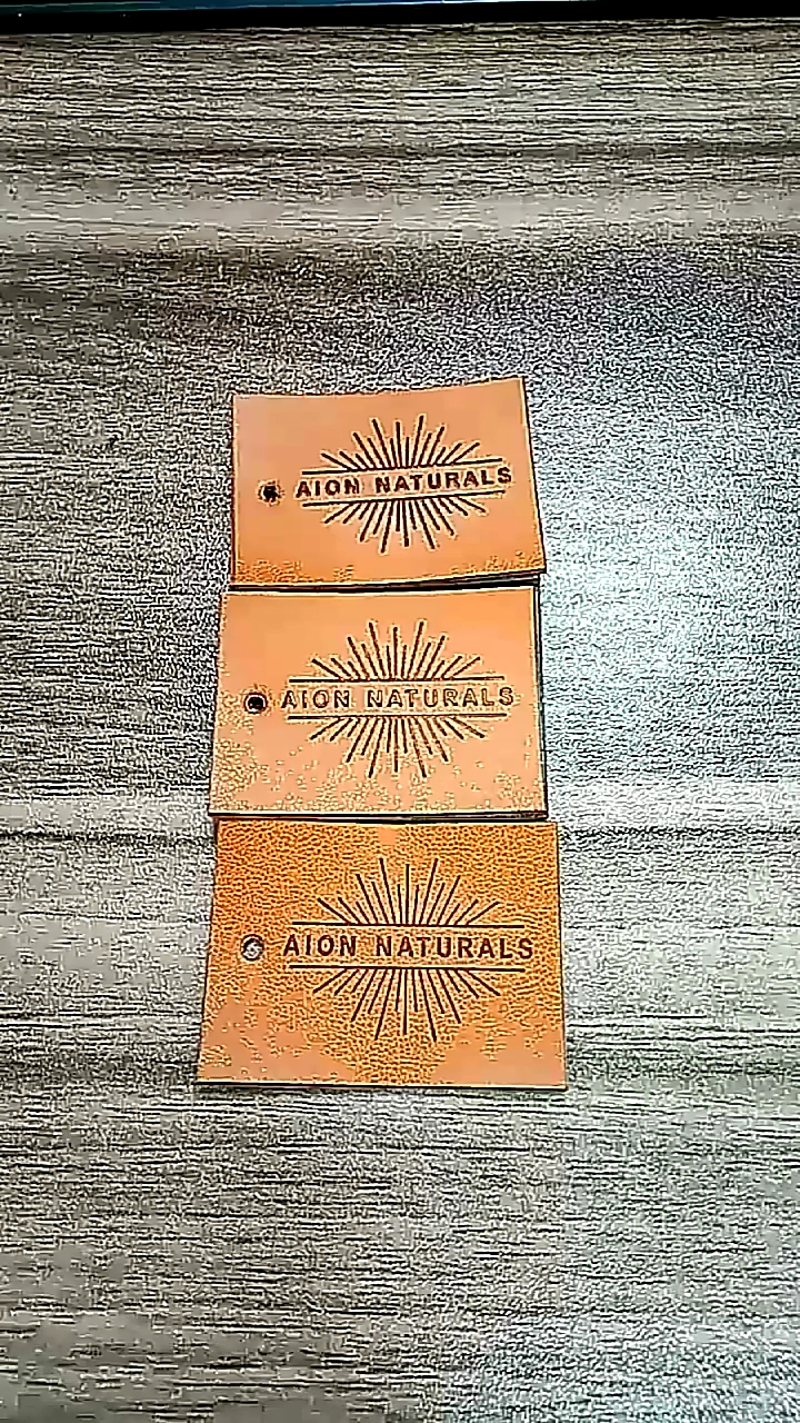 Custom Personalized Logo Leather Label And Tags For Garment