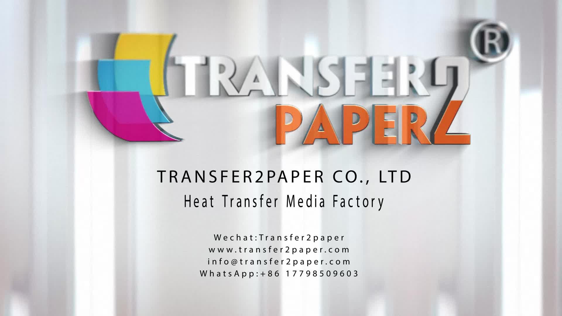 Luz t-shirt de transferência de calor papel a4 suave estiramento alta elástica fácil de impressão cor brilhante A4 A3 papel de transferência de t camisa impressão