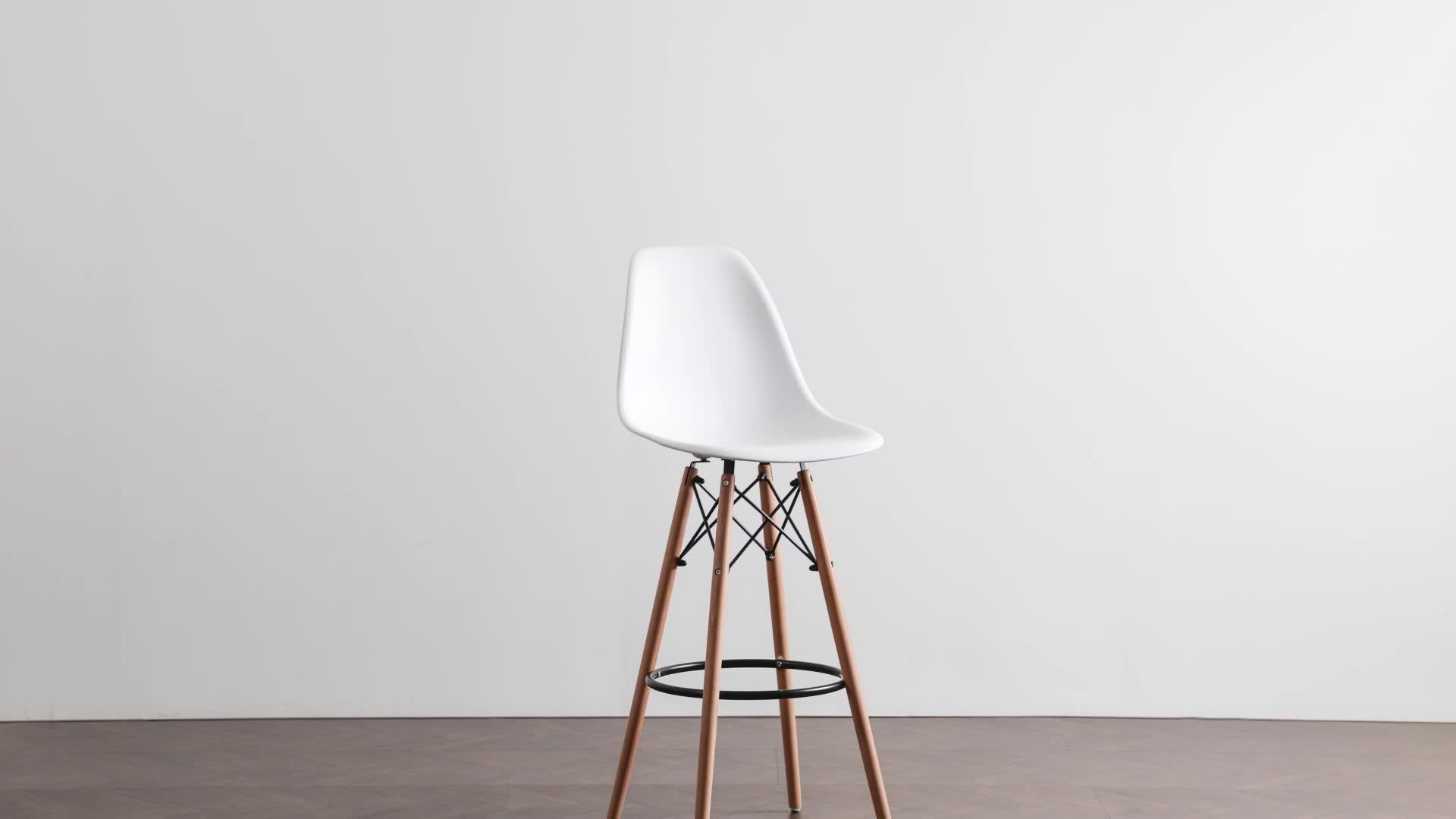Cadeira alta para snack bar cadeira de bar de madeira de plástico
