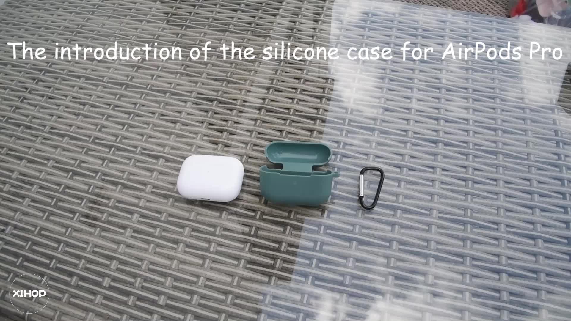 غطاء حماية من السيليكون لجهاز Airpods Pro علبة سماعات لاسلكية Apple جديدة 3