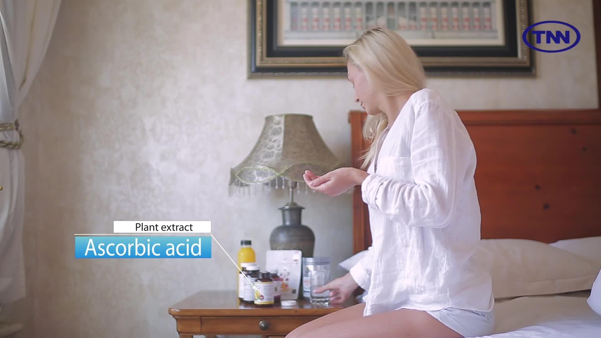 preço de fábrica direto fornecedor comestível vitamina c tablet e pó