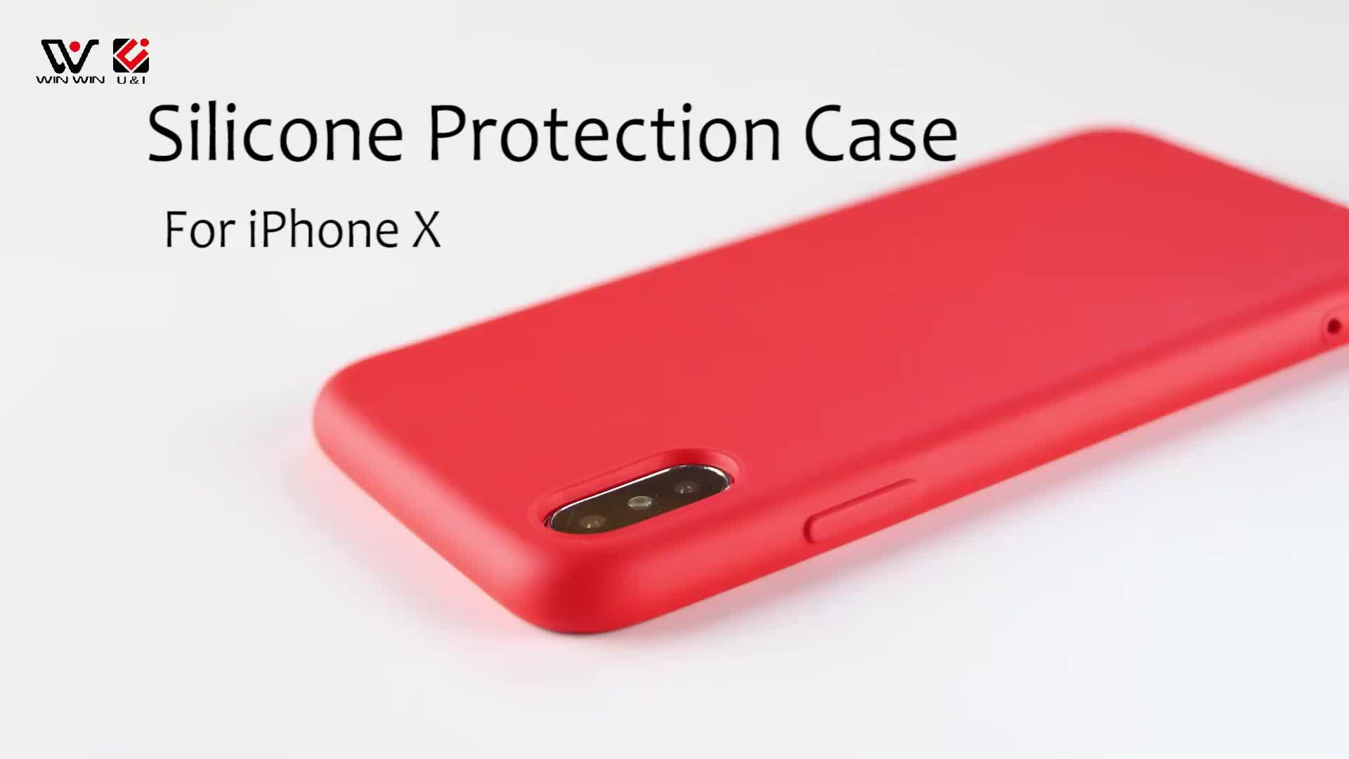 Mat Siyah Kırmızı Ince TPU Telefon Kılıfları Kaplama Ince Profil Temel Arka Koruyucu Kapak iPhone Xs için Max
