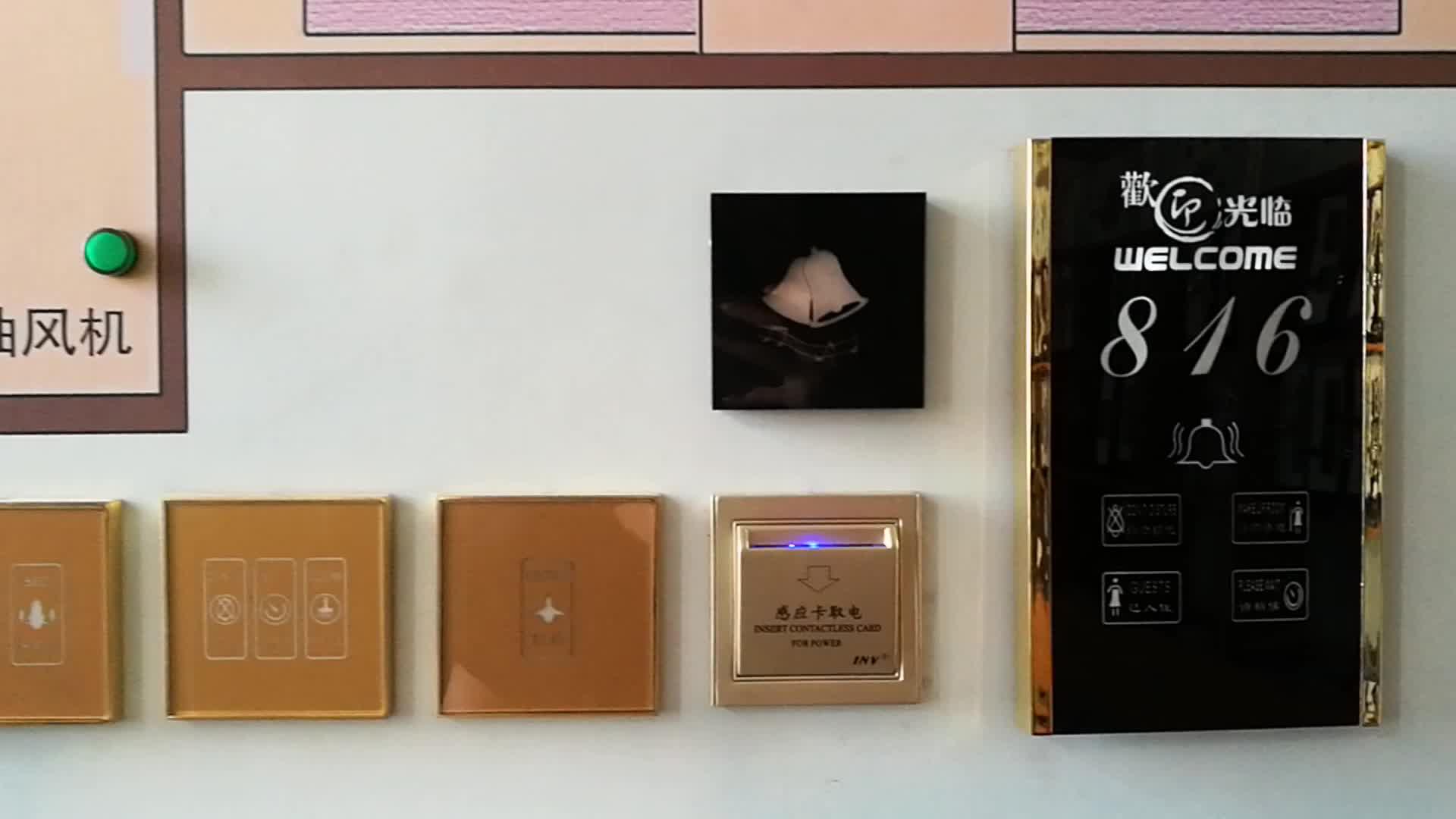 LED Digital Display Hotel Doorplate Room Number