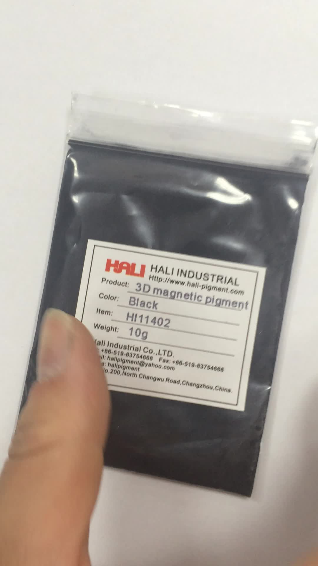 3D magnetic pigment,three-dimensional powder,stereoscopic effect,item:HL11402,color:black