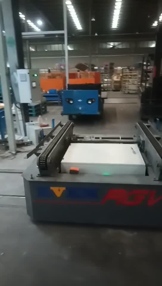非标定制输送线配套链条轨道台车  滑触线供电环形穿梭车生产厂家