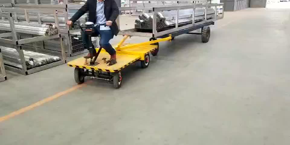 4 ruota Piattaforma Wagon Carrello Spiaggia Trolley Giardino Carrello Elettrico Per 800-1000 kg