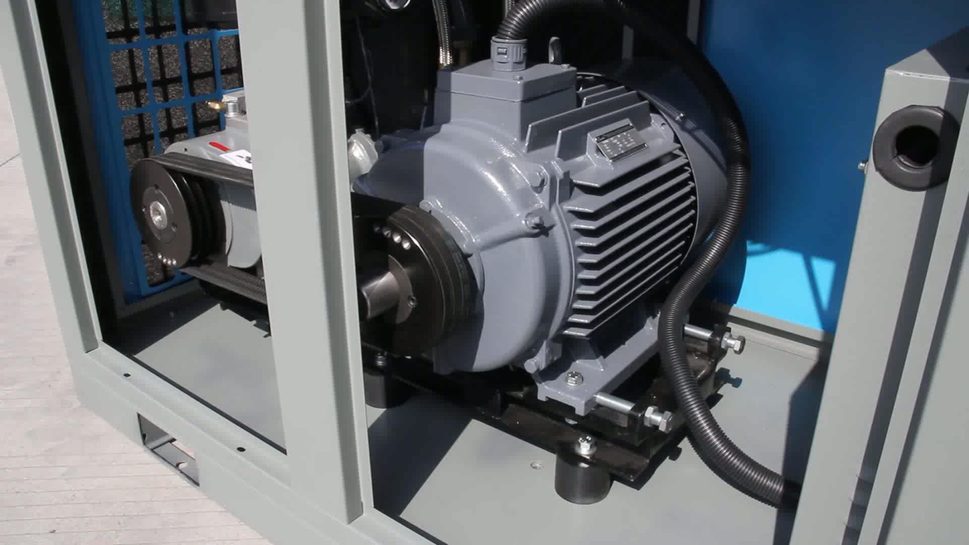 Fabriek schroef riem aangedreven compressor de aire usado