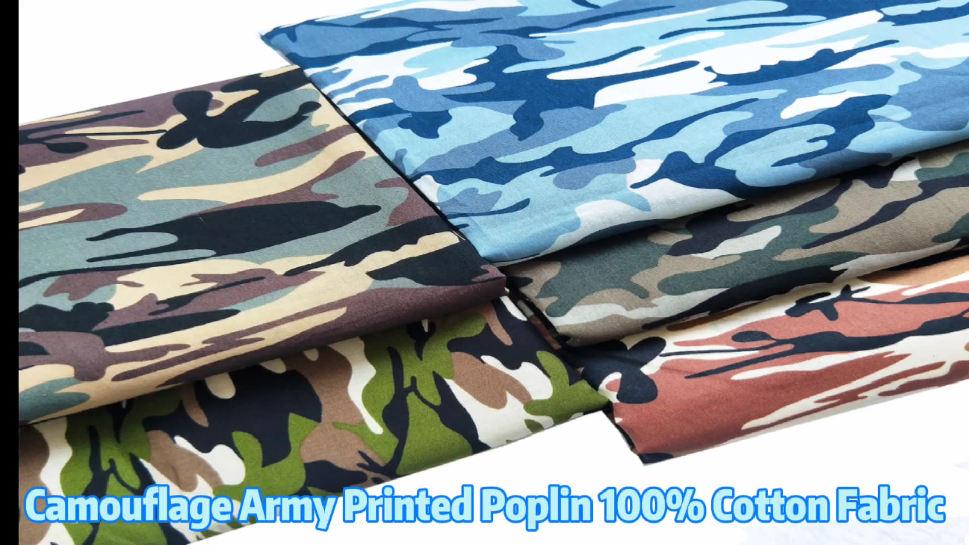 2020 Hot Sale Camouflage Army Printed Poplin 100% Cotton Fabric Wholesale For Face Mask T Shirts Shorts Scarf