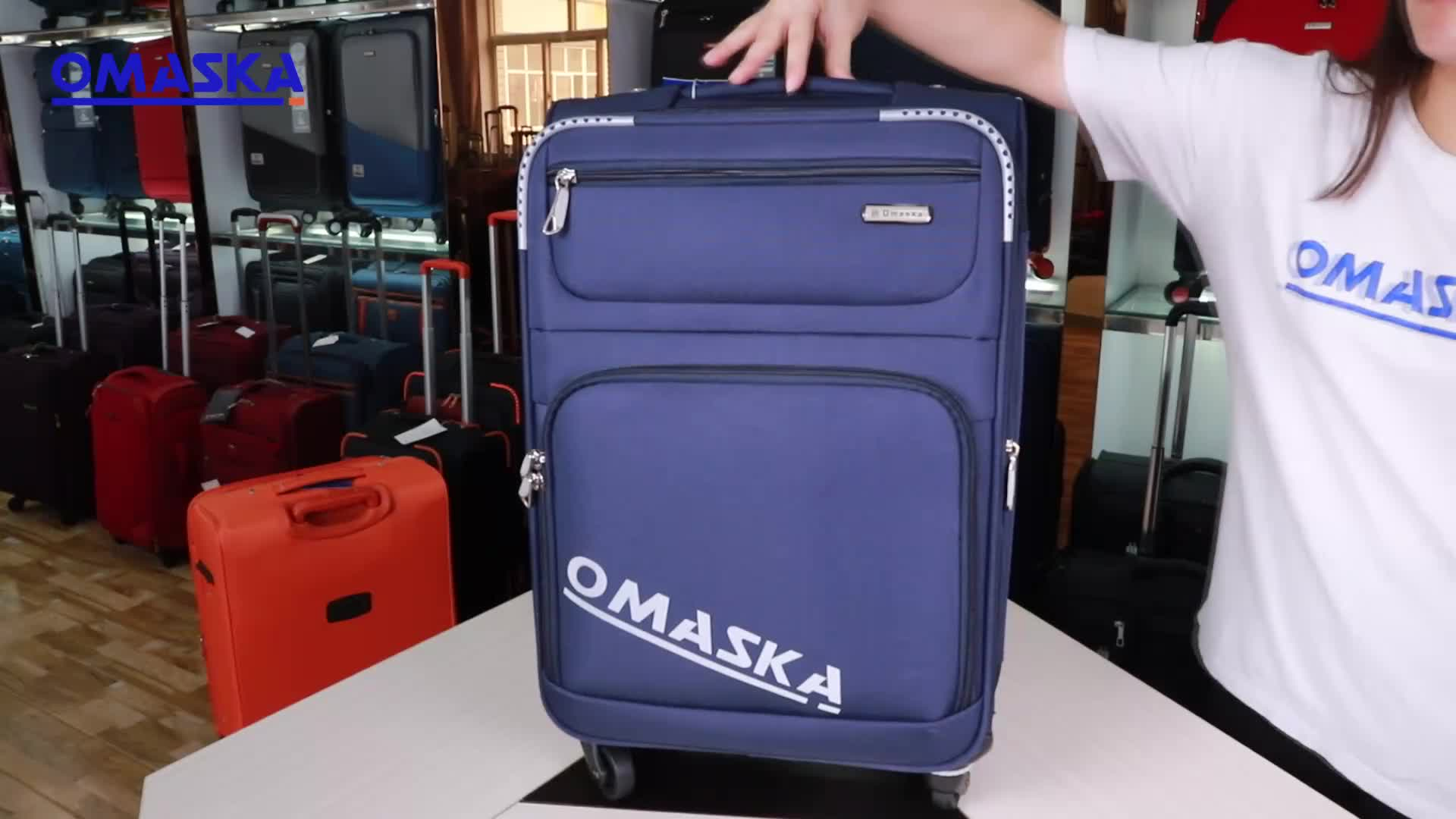 OMASKA suitcase luggage 20 years factory wholesale OEM ODM OBM custom 12 pcs removable wheel trolley travel luggage set
