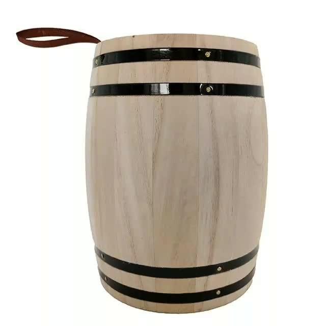 Coffee Bean Wooden Barrel Custom Wooden Barrel Wood Barrel Box