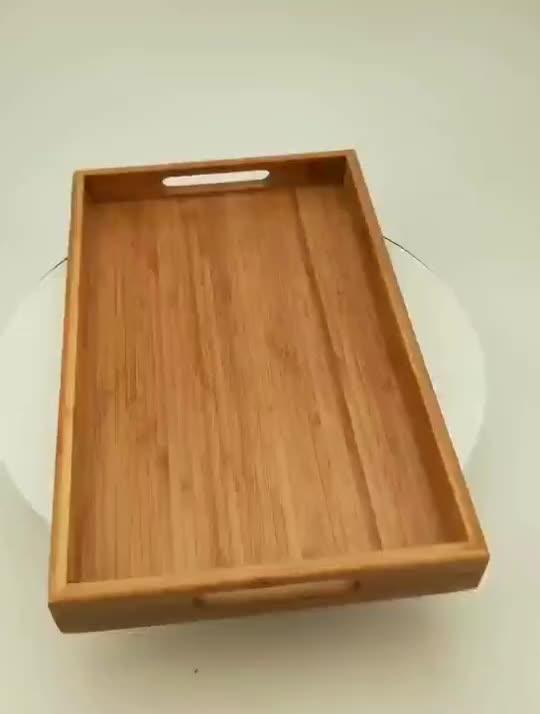 Fabrik gute qualität durable kiefer holz tablett tablett in Angepasst Form