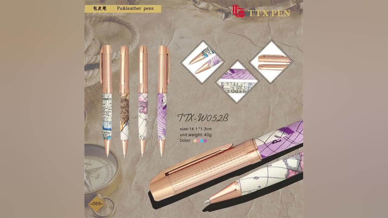 wedding gift souvenirs for guests metal leather map pen