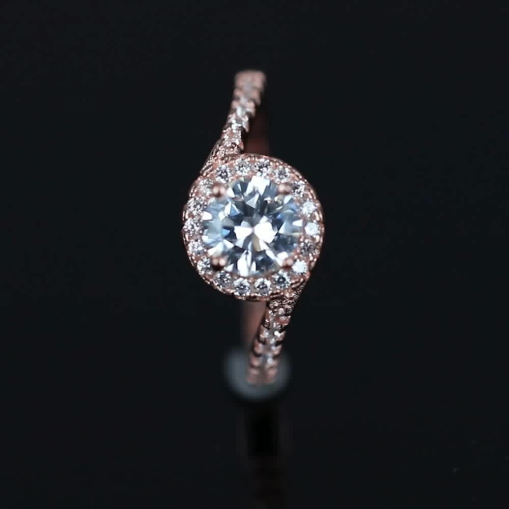 Factory Wholesale 2020 Designs Jewelry Rose Gold sterling silver ring